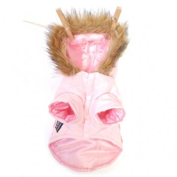Abrigo rosa para perros impermeable.
